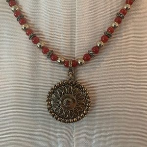 Banana Republic Red and Gold necklace